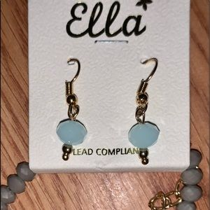 Ella gold beaded necklace earrings set new